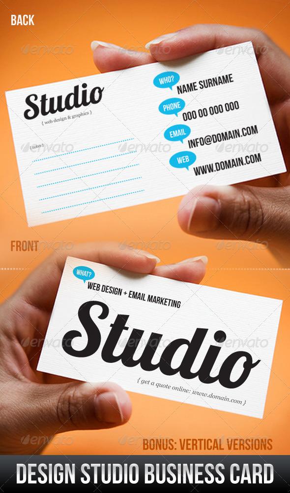 design studio business card graphicriver. Black Bedroom Furniture Sets. Home Design Ideas