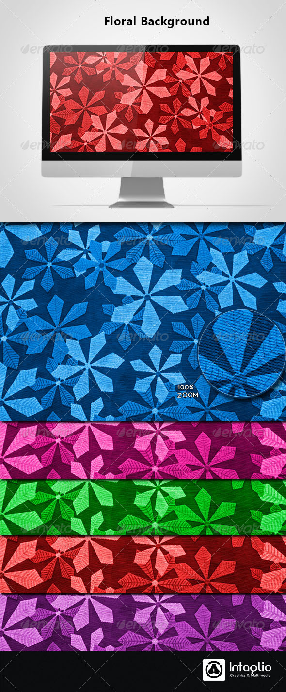 Floral Background 05 - Backgrounds Graphics