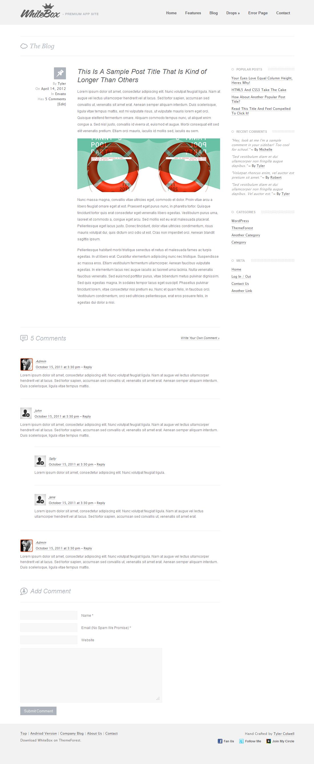 WhiteBox Premium App Website Template