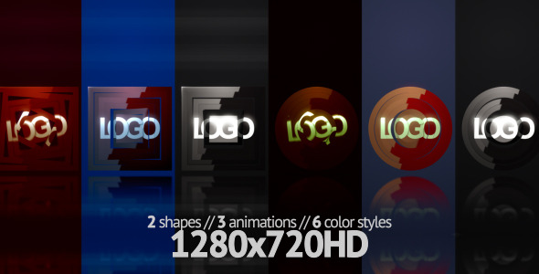 After Effects Project - VideoHive Square Circle Logo Builder 249896