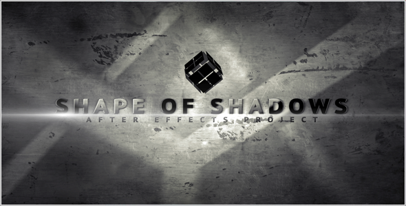 After Effects Project - VideoHive Shape of shadows 2205709
