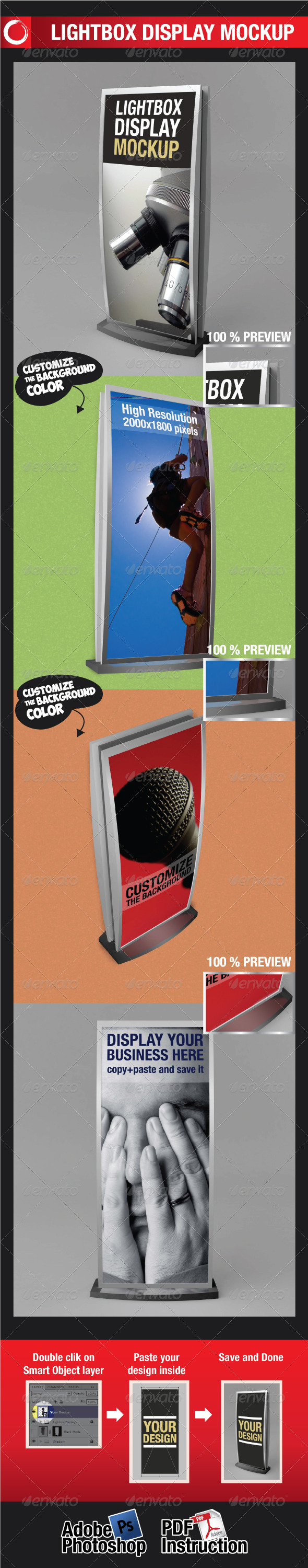 GraphicRiver Lightbox Display Mockup 2032492