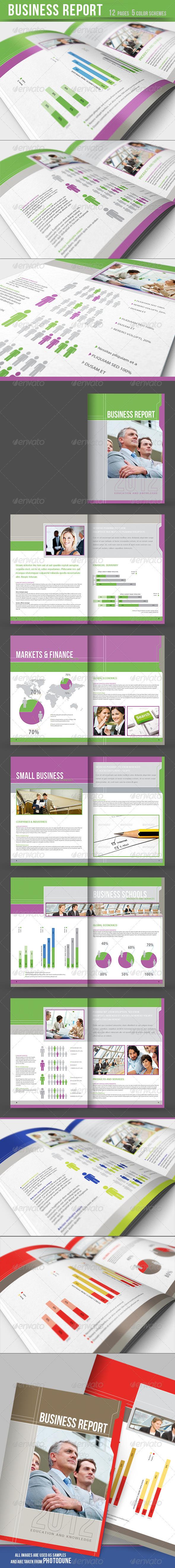 GraphicRiver Business Report Brochure 5 color schemes 2231312