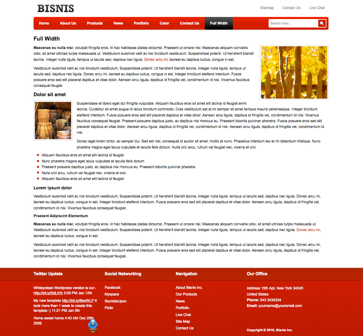 Business Template for Company Profile by plentong – Business Profile Template