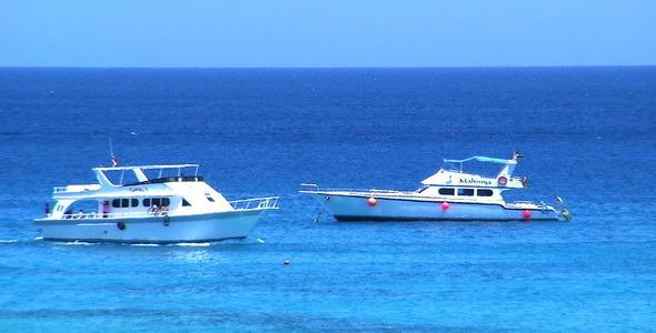Ships On The Paradise Island Egypt