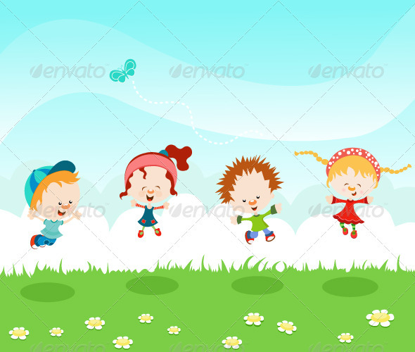 GraphicRiver Jumping Kids 2232806