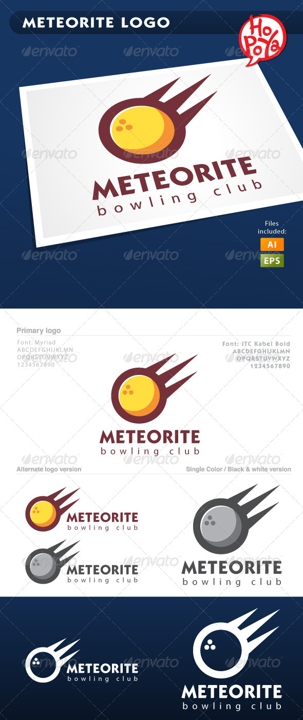 Meteorite Logo - Objects Logo Templates