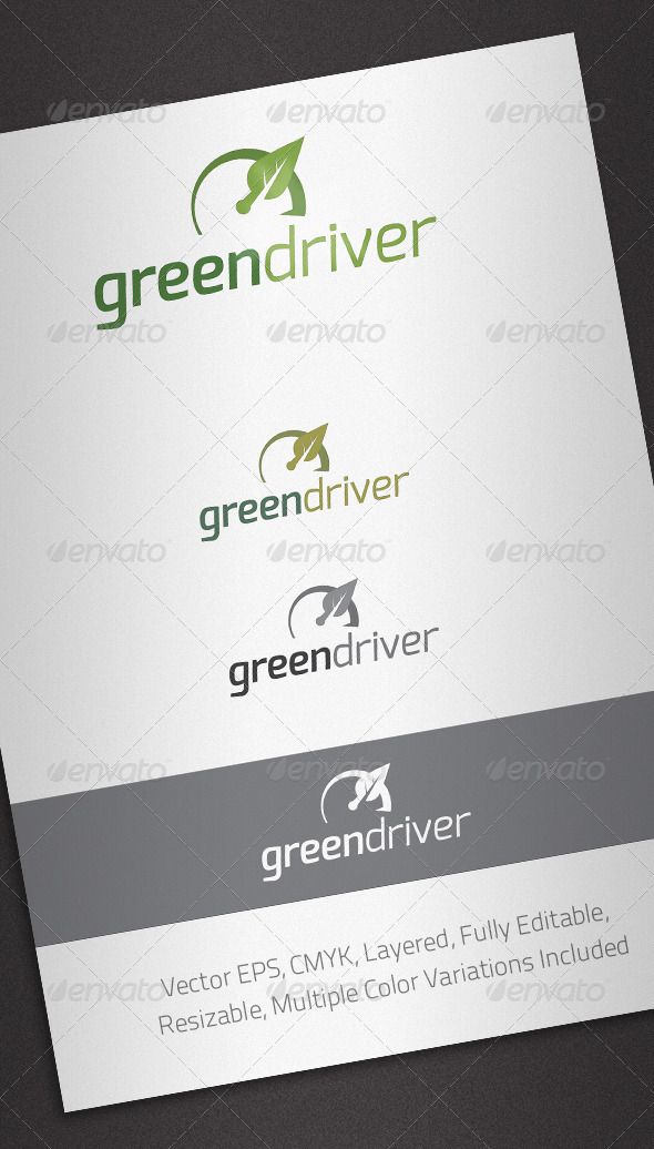 Green Driver Logo Template - Nature Logo Templates