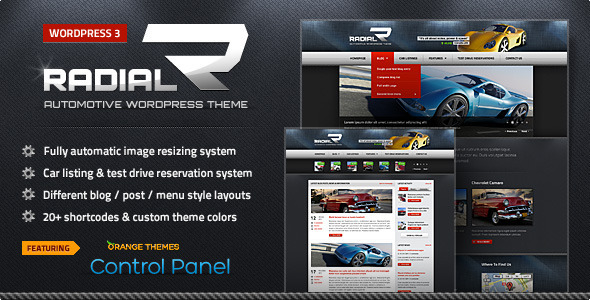 ThemeForest Radial Premium Automotive & Tech WordPress Theme 561152