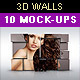 3D Wall Photo Mock-Ups 1 - GraphicRiver Item for Sale