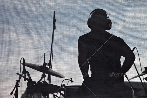 Stock Photo - PhotoDune Popular music concert stage and musician silhouette 2234429