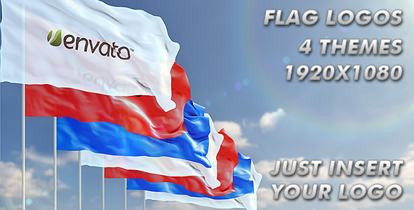 VideoHive Waving Logo on Flag 2236413