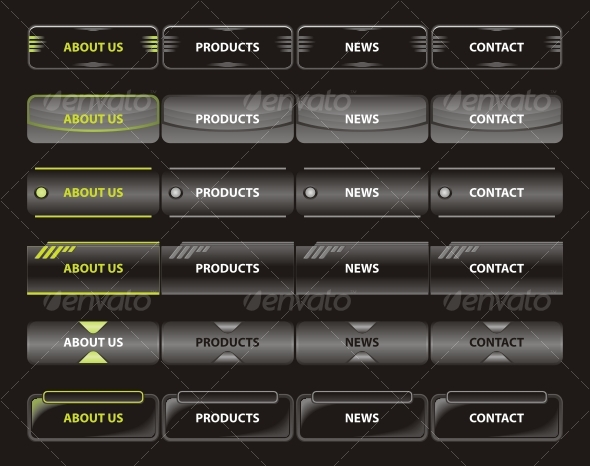 Web navigation templates - Web Elements