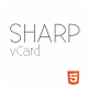 Sharp – HTML5 Premium vCard