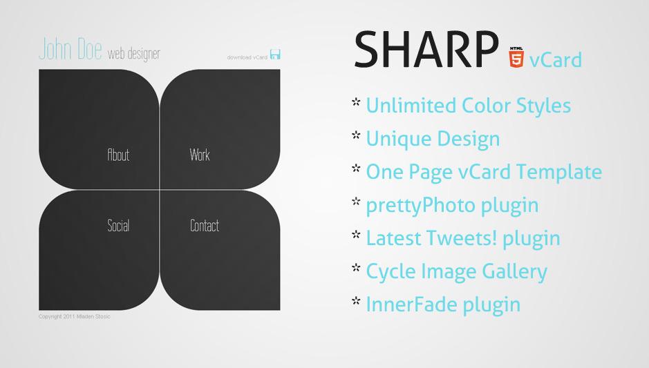 Sharp - HTML5 Premium vCard -
