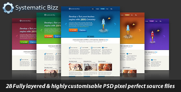 Clean Business Wordpress PSD Template