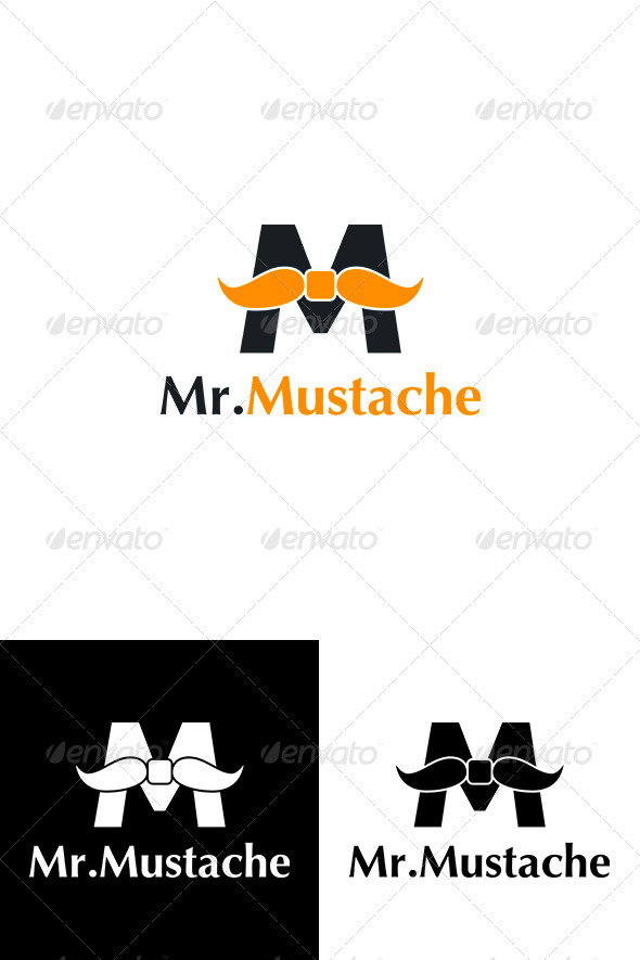 GraphicRiver Creative Letter M Logo Mr.Mustache 2237323