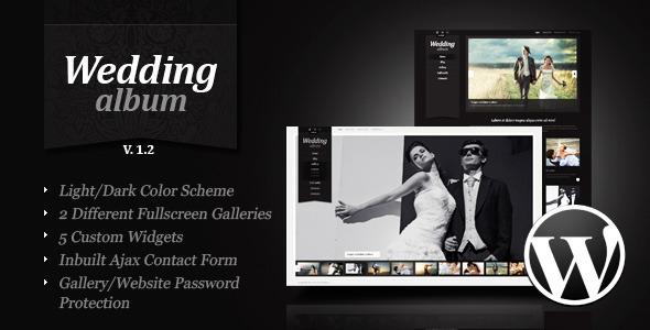 Wedding Album wordpress theme download