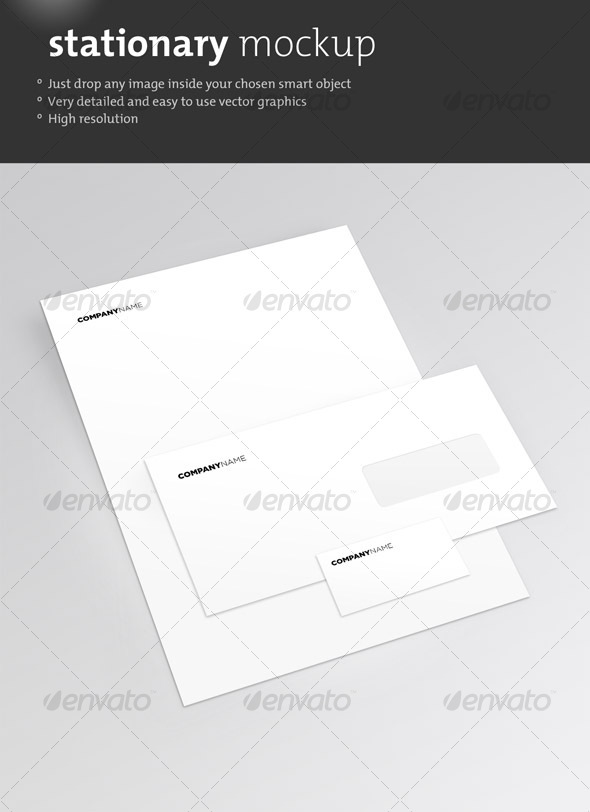 GraphicRiver Clean Stationary Mockup 76125