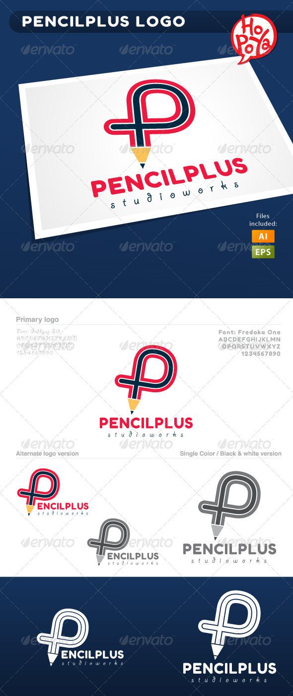 Pencilplus Logo - Letters Logo Templates