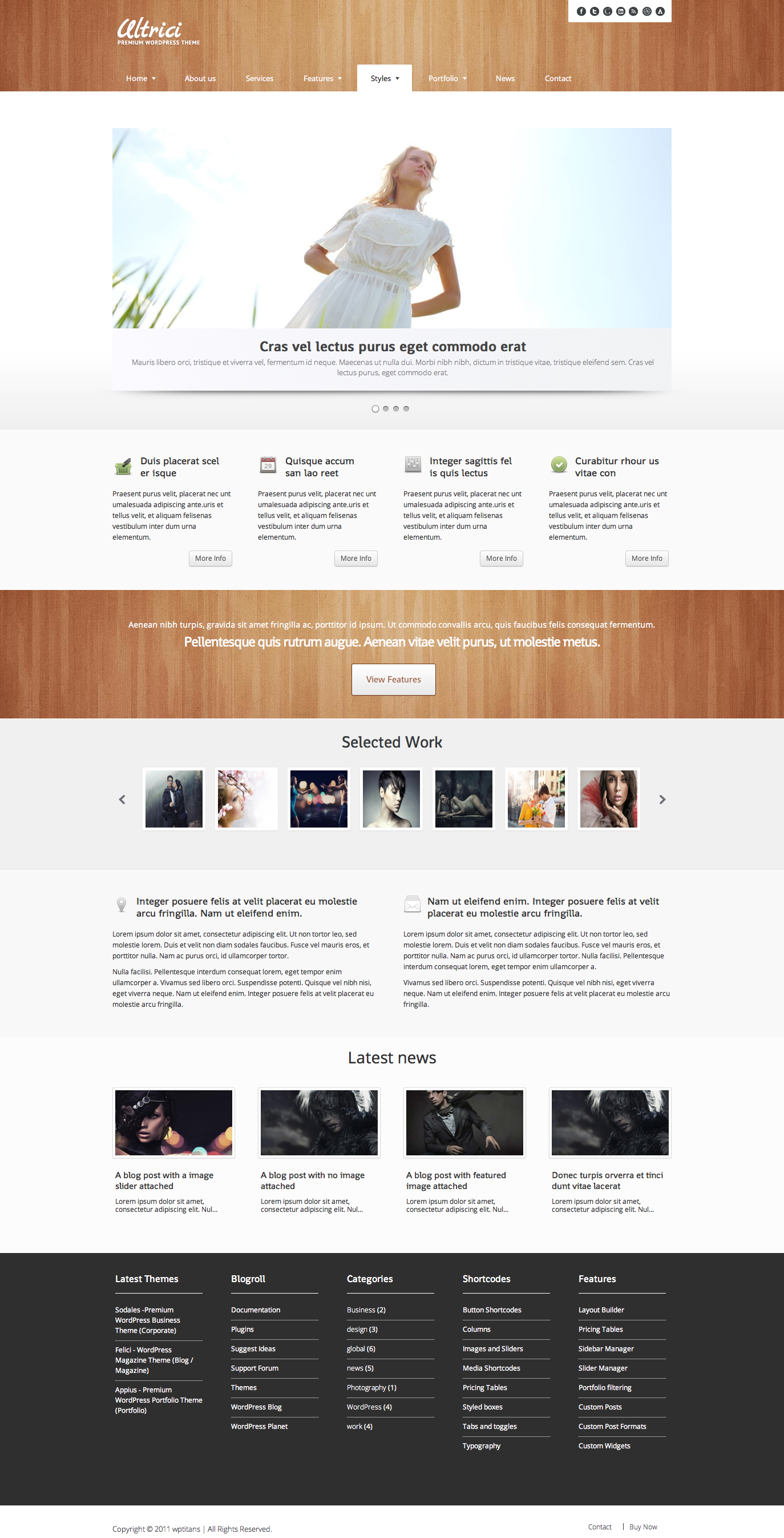 Ultrici - Premium WordPress Theme