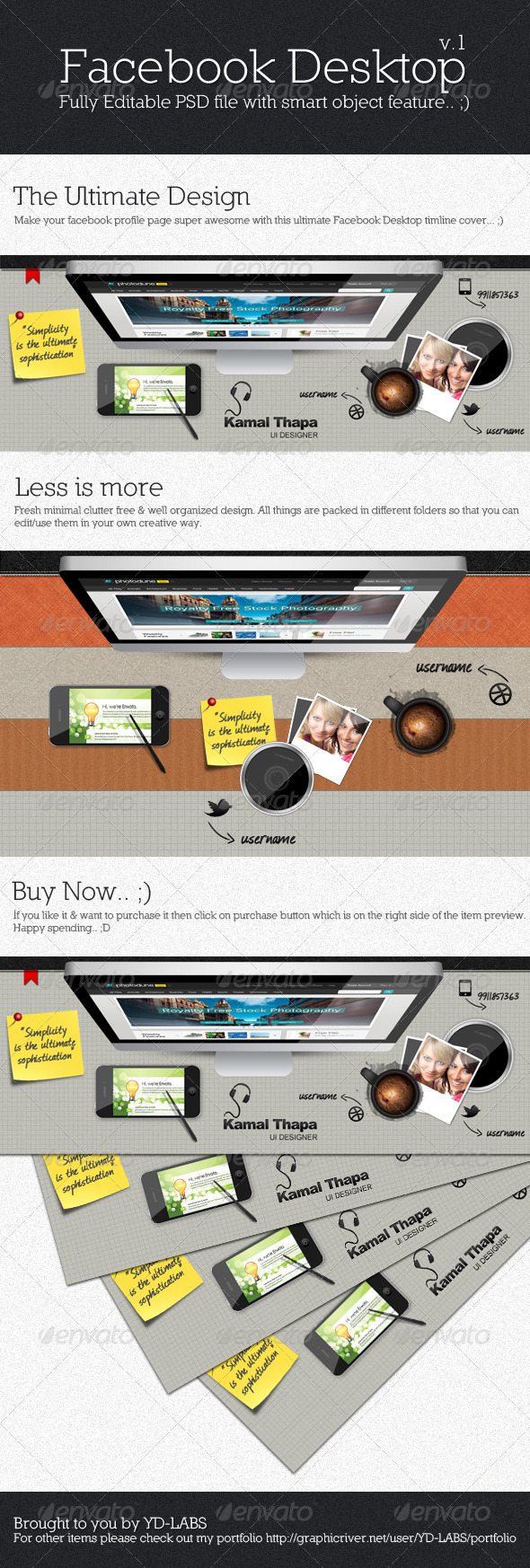 GraphicRiver Facebook Desktop 2221802