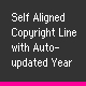 Self aligned Copyright Line with auto updated Year - ActiveDen Item for Sale