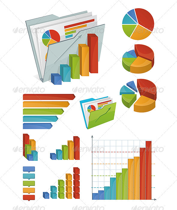 GraphicRiver Icons and Chart Elements 2241687