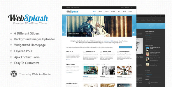 ThemeForest Web Splash Premium WordPress Theme 2241850