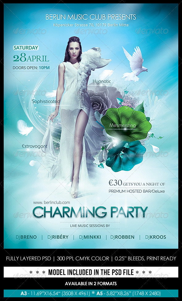 Charming Party Poster/Flyer - Flyers Print Templates