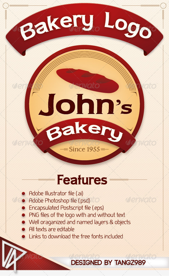 GraphicRiver Bakery Logo 498454