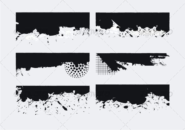 GraphicRiver Set of Grunge edges 83775