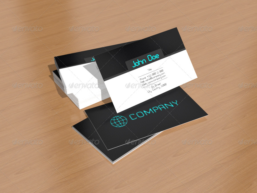 Business Card 3D Mock-Up Pack No.1