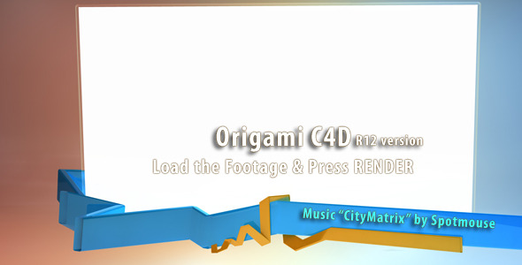 VideoHive Origami C4D version 2243406