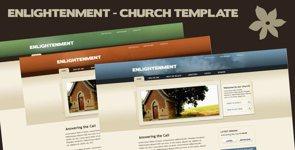Enlightenment Church Site Template - Churches Nonprofit