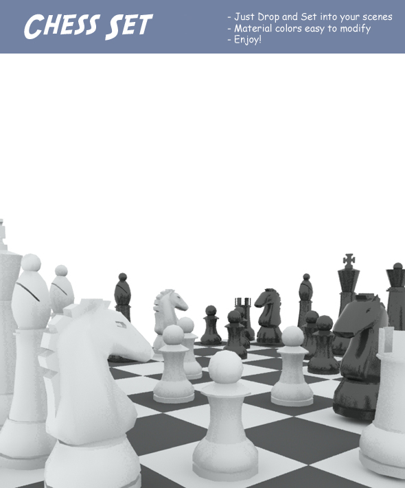 3DOcean Chess Set 83087