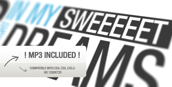 After Effects Project - VideoHive Close Your Eyes Typography 2244892