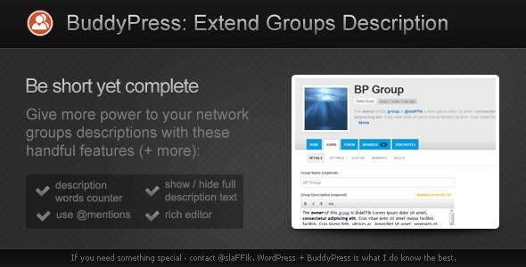 CodeCanyon BP Extend Groups Description 2085768