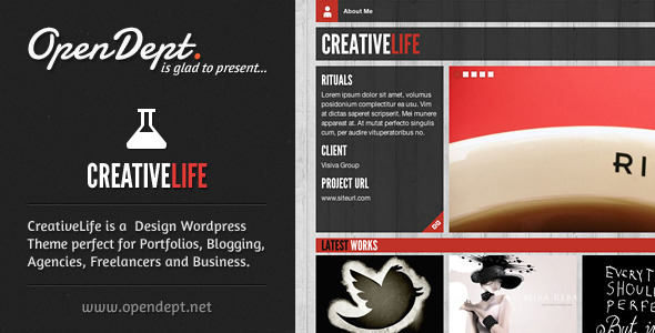 ThemeForest CreativeLife WordPress Theme For Creatives 2228192
