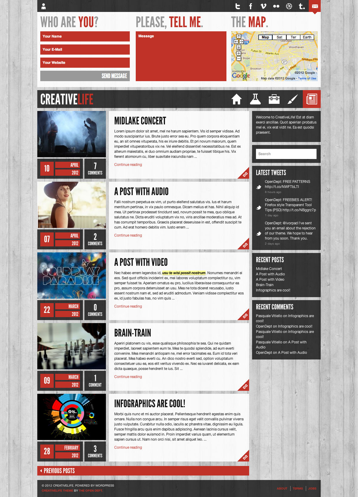 CreativeLife - WordPress Theme For Creatives