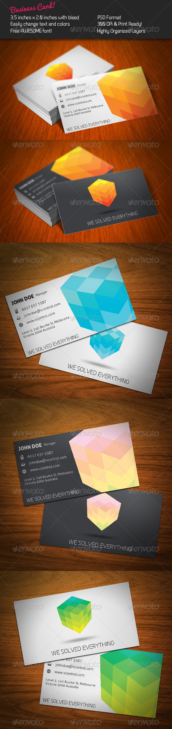 GraphicRiver Cubic Business Card 254330