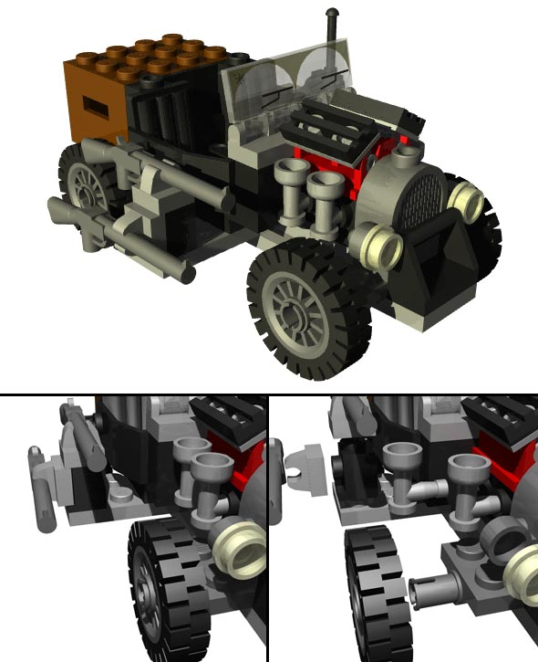 LEGO Adventure Car - 3DOcean Item for Sale