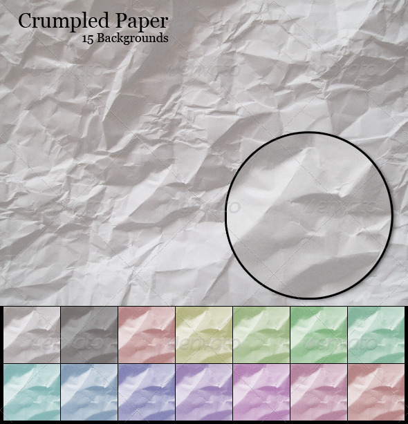Crumpled Paper - Backgrounds Graphics