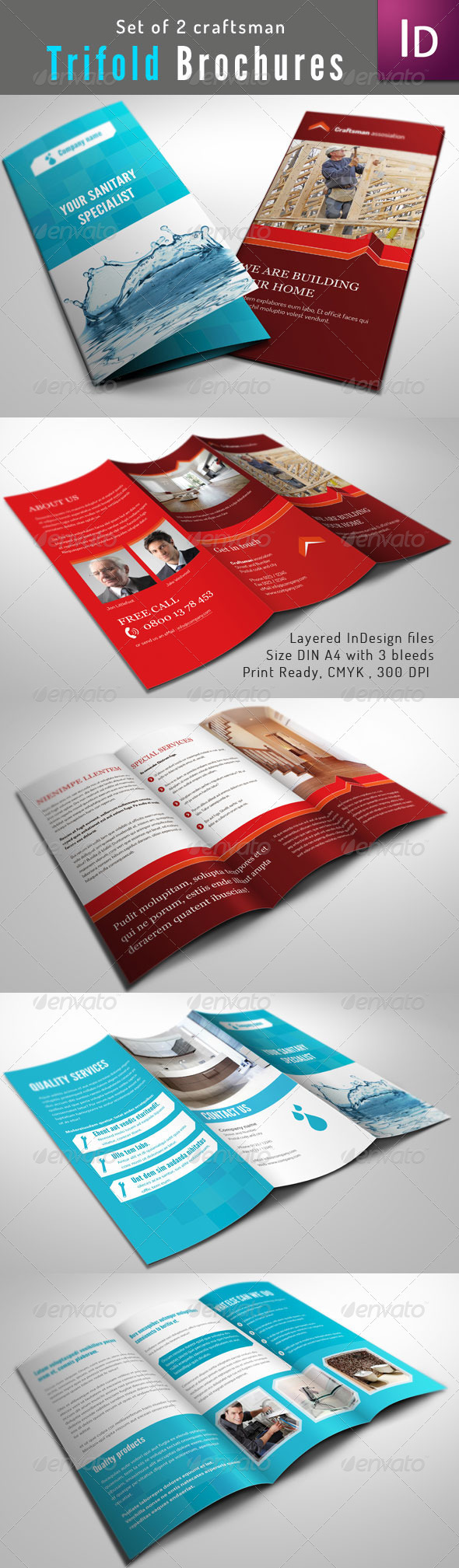 Set of 2 Trifold Brochure - Corporate Brochures