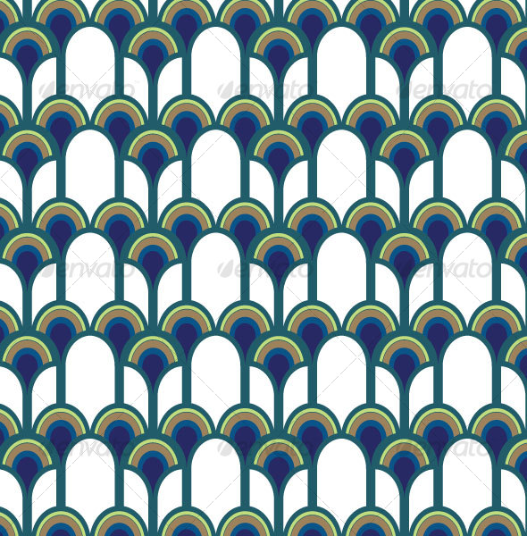 GraphicRiver Blue Peacock Pattern 61139