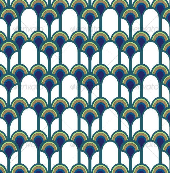 Blue Peacock Pattern