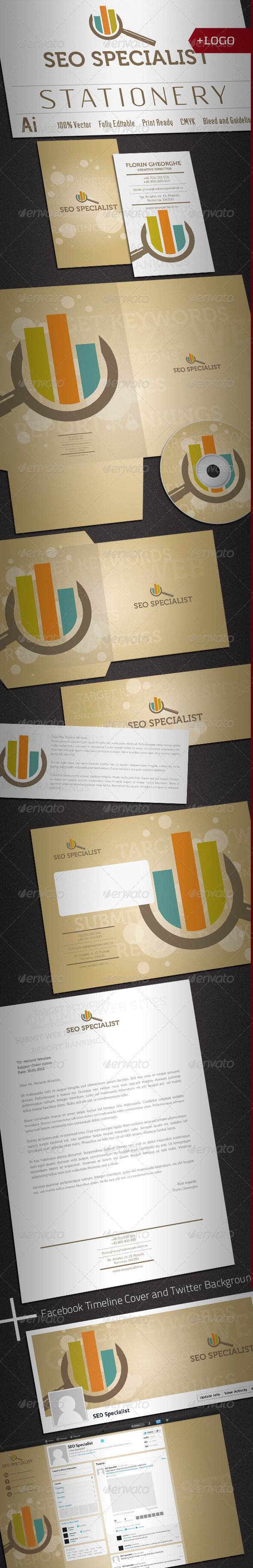 GraphicRiver Seo Specialist Stationery 2248766