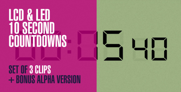 LCD and LED Countdowns & 1 Alpha Version 4-Pack
