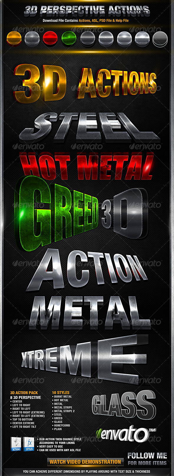 3D Action Pack - Photoshop Add-ons