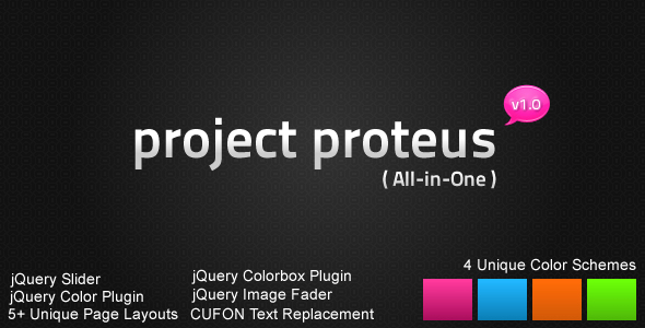 Project Proteus Portfolio / Business HTML Design